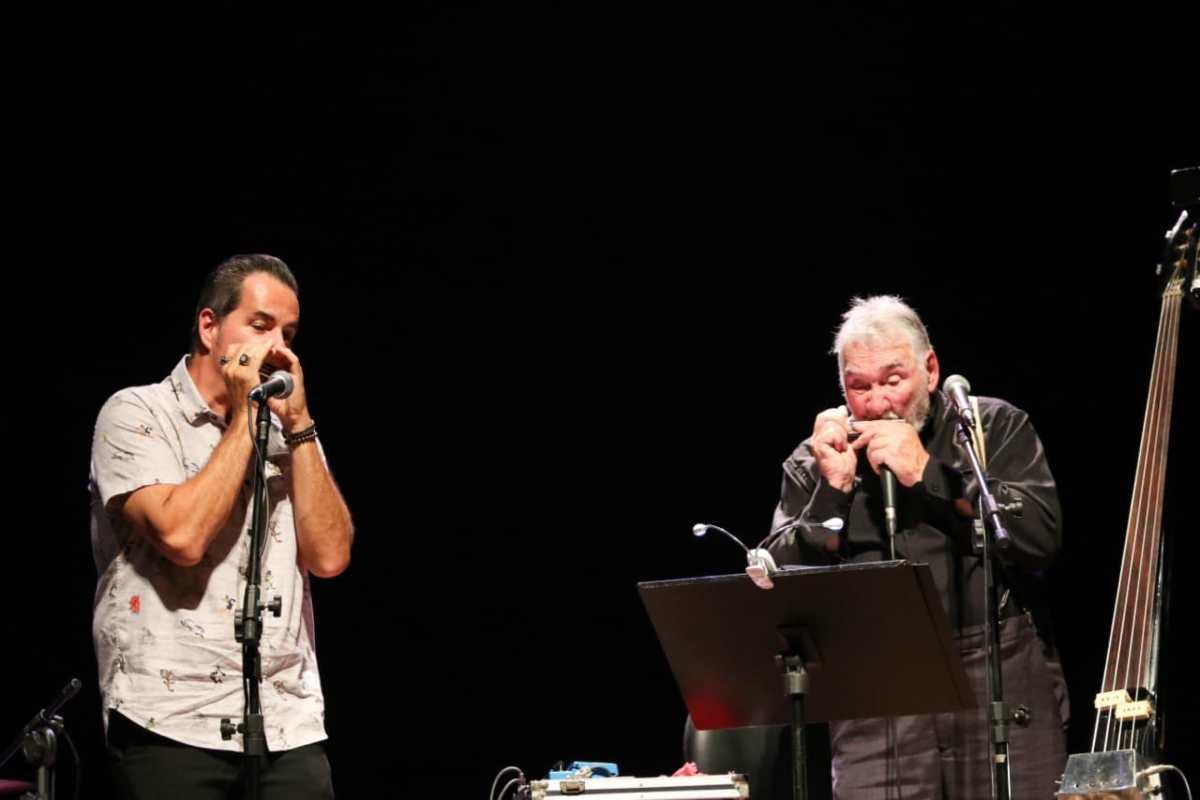 Show de Maresia e Clayber de Souza reúne o blues, o jazz e a gaita