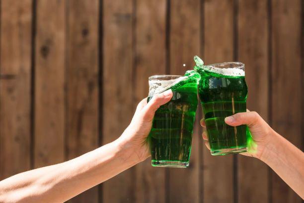Chope verde no beer garden