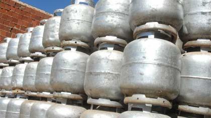Foto de botijões de gás