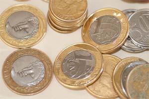 Foto ilustrativa, moedas