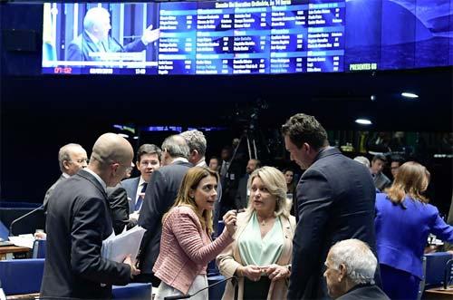 Foto do plenário do Senado