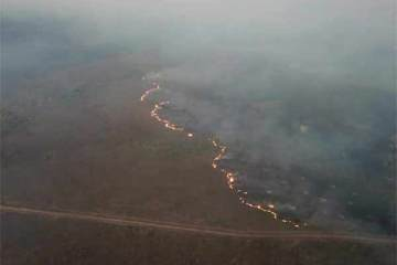 Foto de queimada na Amazônia