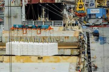 Foto do porto de Paranaguá