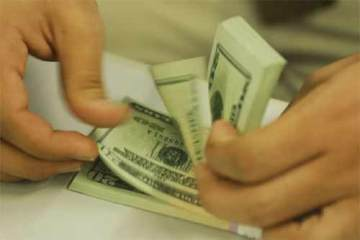 Foto ilustrativa, cédulas de dolar