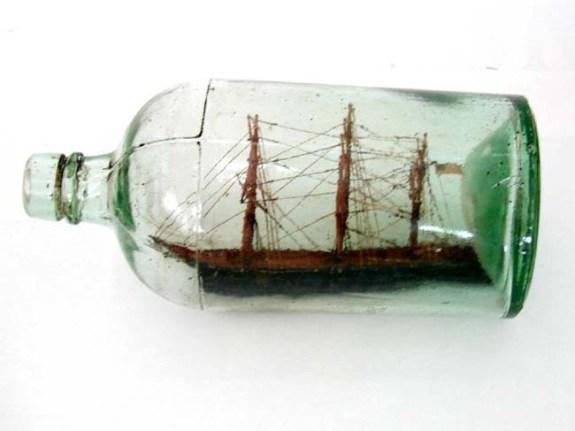 Antique Ship-in-a Bottle Circa 1900.