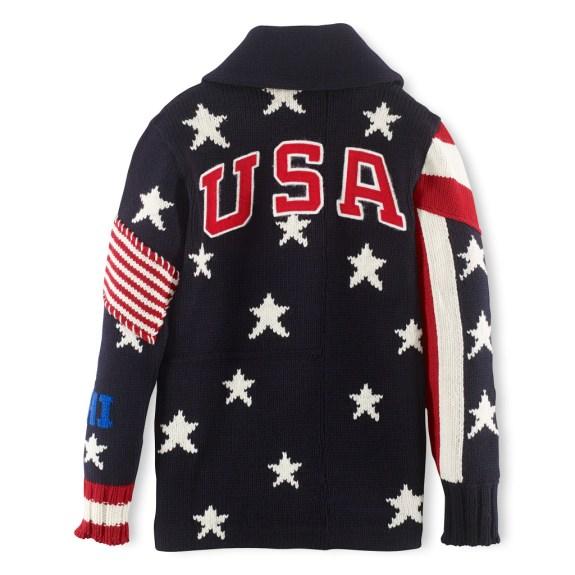 LS Shawl Button Patchwork Sweater - 595