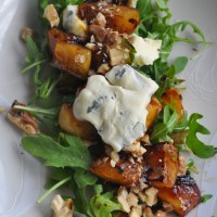 Warm Pear, Walnut and Blue Cheese Salad
