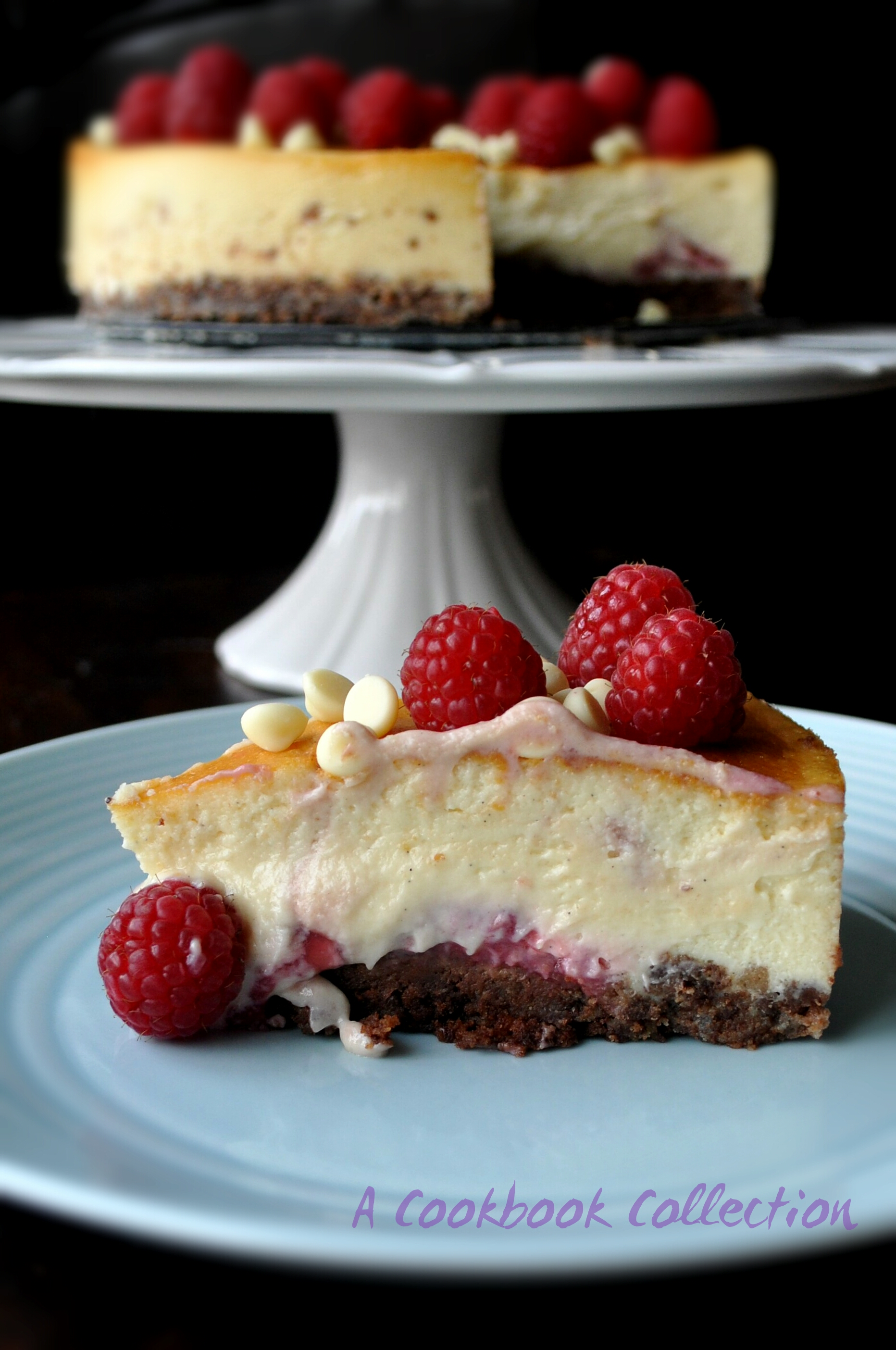 Baked White Chocolate & Raspberry Cheesecake - A Cookbook Collection