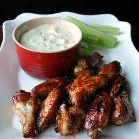 Drunken Chicken Wings with Blue Cheese Dip