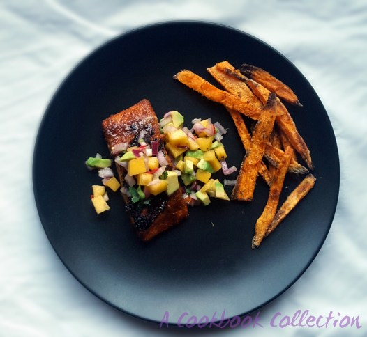 Sweet and Spicy Salmon with Mango and Avocado Salsa - A Cookbook Collection