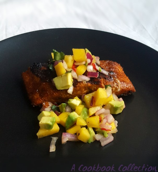 Sweet and Spicy Salmon with Mango and Avocado Salsa -A Cookbook Collection