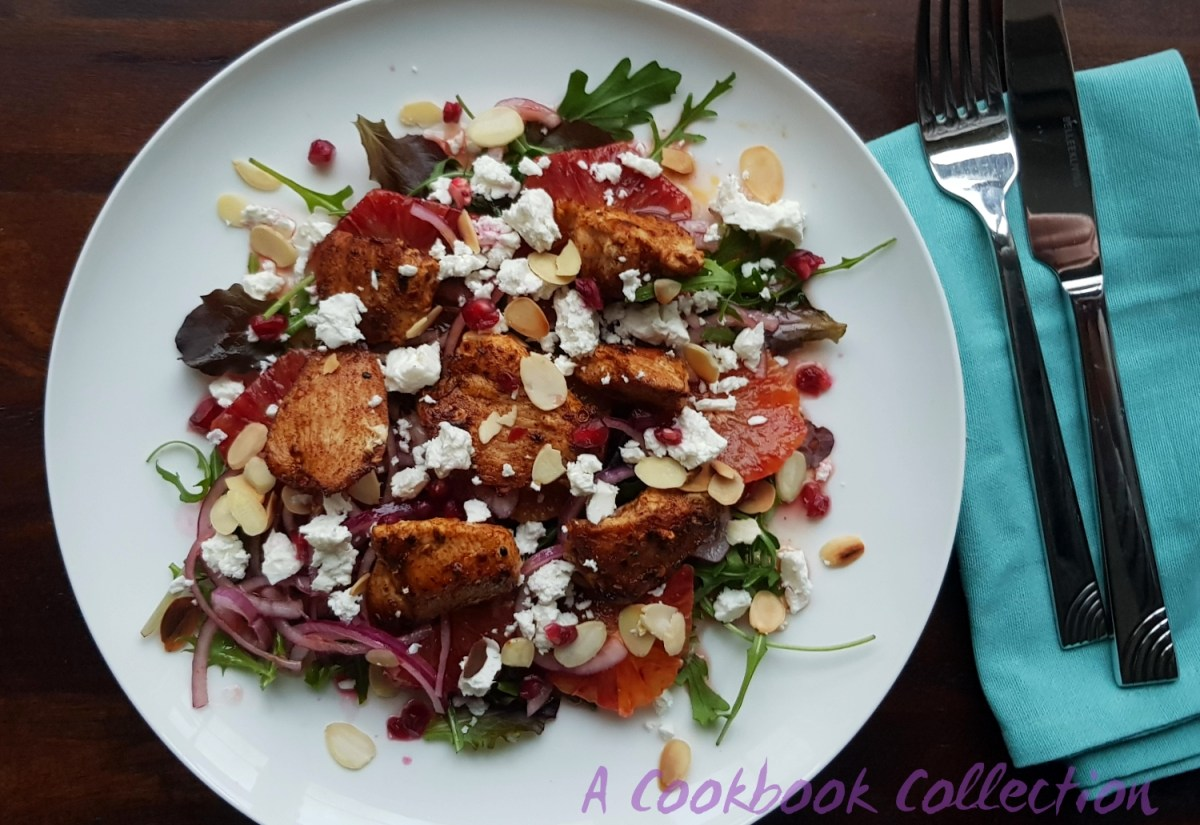 Moroccan Chicken Salad with Blood Orange and Feta