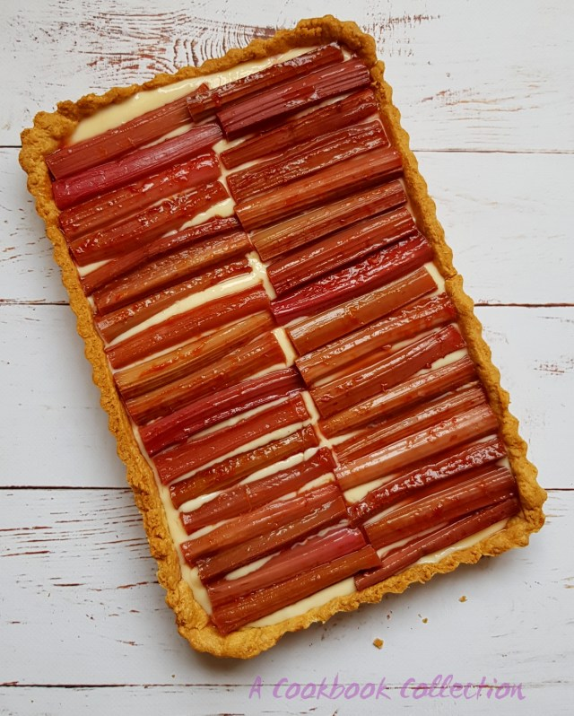 Rhubarb and Custard Tart -A Cookbook Collection