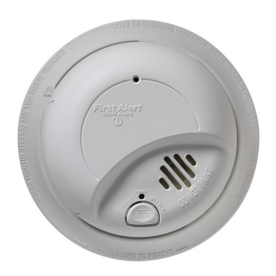 3. First Alert 9120B6CP 120-Volt Wire-In With Battery Backup Smoke Alarm, 6-Pack