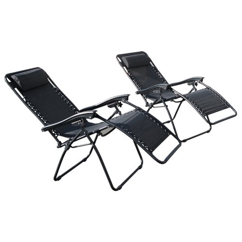 6. Best Choice Products Zero Gravity Chairs Case Of Black Lounge Patio Chairs Outdoor Yard Beach New