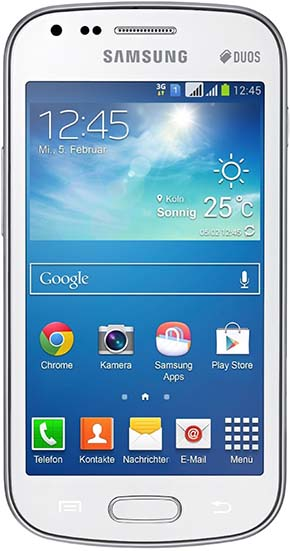 5. Samsung Galaxy S Duos 2 GT-S7582, 4GB, Factory Unlocked, International Version, White
