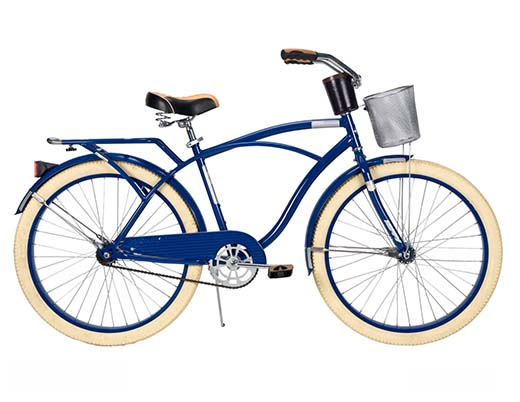 8. Huffy Men's Deluxe Cruiser Bike, Gloss Navy Blue, 26-Inch/Medium