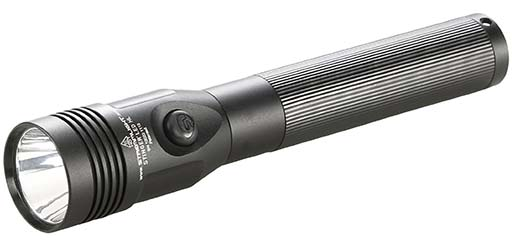9. Streamlight 75434 Stinger LED HL Rechargeable High Lumen Flashlight with 120-volt AC/12-volt DC PiggyBack Charger
