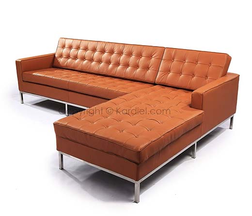 Kardiel Florence Gives You A Knoll Style Sofa Sectional In Luxe Camel Genuine Leather  sc 1 st  ACoolList : camel leather sectional - Sectionals, Sofas & Couches