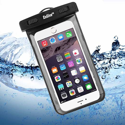 4.Waterproof Case, ENGIVE Waterproof Pouch Bag Case for iPhone, Samsung Galaxy