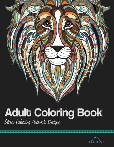 3. Adult Coloring Book: Stress Relieving Animal Designs