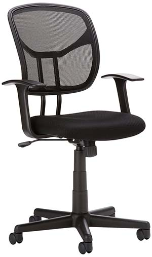 1. AmazonBasics Mid-Back Mesh Chair