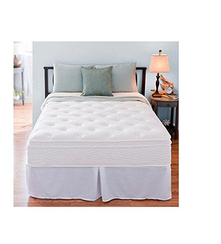 8. A Full sized Mattress from Night Therapy With Euro Box Top Spring Mattress and Bi-Fold Box Spring Set