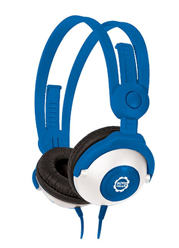 7. Kidz Gear Wired Headphones For Kids - Blue