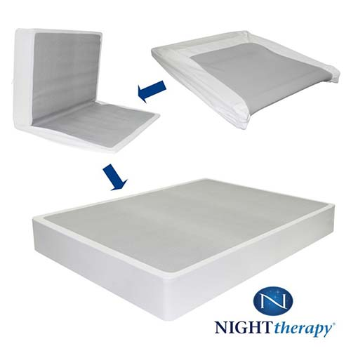 7. Night Therapy 9 inch High Profile BiFold Box Spring, Queen