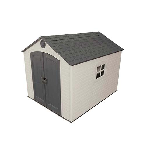 9. Lifetime 6405 Outdoor Storage Shed with Windows and Skylights