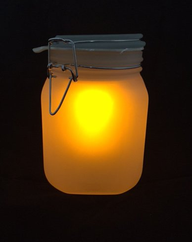 8. Sol-Luna Glass Canister Light (Yellow/White)
