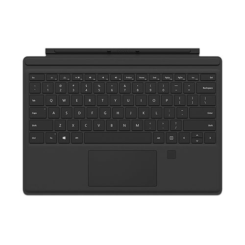 8. Microsoft Surface Pro 4 Type Cover with Fingerprint ID (Black)
