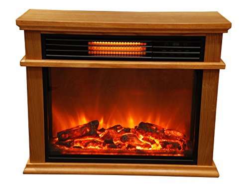 Superior Lifesmart Easy Large Room Infrared Fireplace Includes Deluxe Mantle In  Burnished Oak U0026 Remote