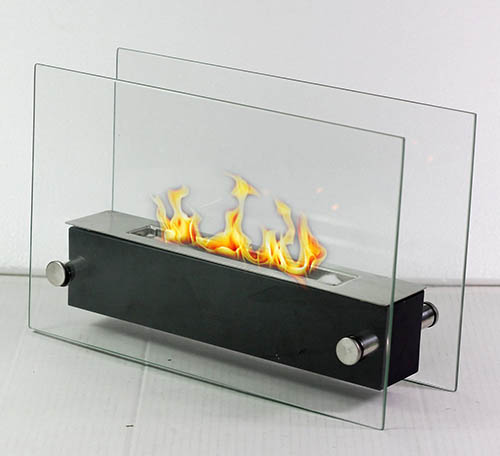 6. Fire Desire's Glider Fireplace - Perfect for Table Top, Tempered Glass, Both Indoor and Outdoor Use