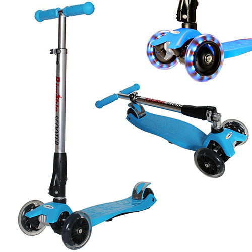 9. Rimable Foldable Maxi Kick Scooter with LED Light up Wheels