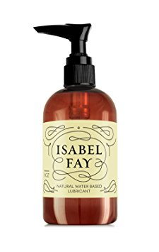 10. Natural Intimate Personal Lubricant for Sensitive Skin, Isabel Fay - Water Based, Discreet Label - Best Personal Lube for Women and Men – Made in USA – Natural...