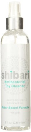 2. Shibari Antibacterial Toy Cleaner, 8oz Spray Bottle