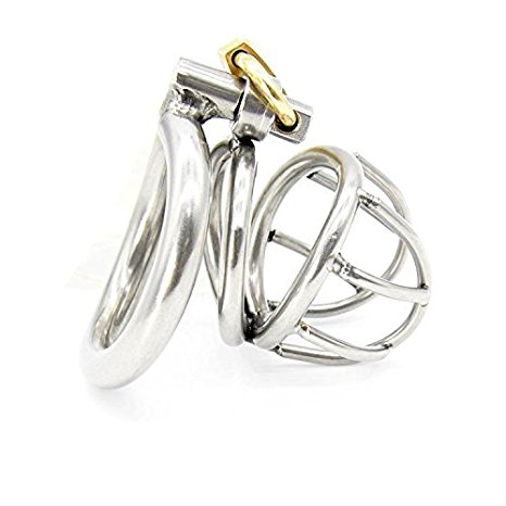 4. Happygo Male Chastity Device Hypoallergenic Stainless Steel Cock