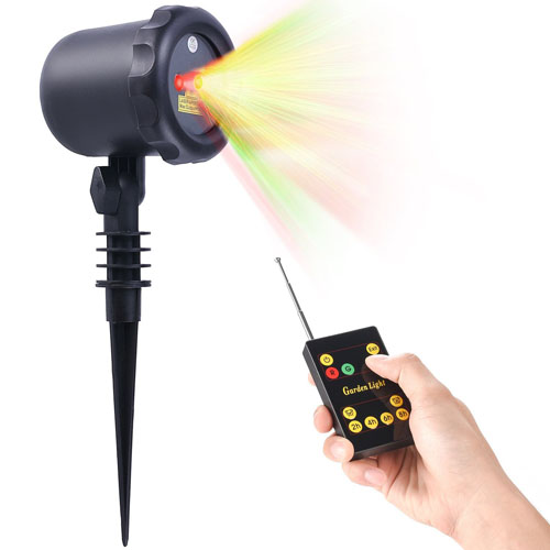 6. Laser Christmas Light w/ RF Remote Control