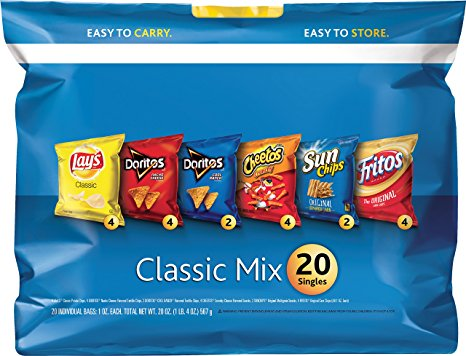 2. Frito Lay Chips and Snack Variety Sack, 20ct, 20 oz