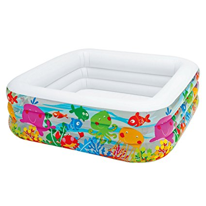 5. Intex Swim Center-Clear view Aquarium Inflatable Pool
