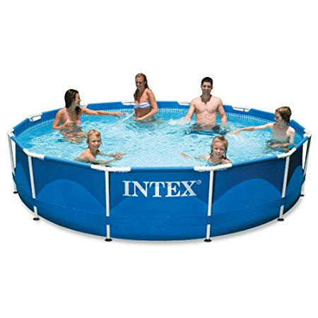3. Intex 12ft X 30in Metal Frame Pool Set