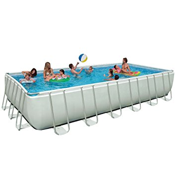 6. Intex 24ft X 12ft X 52in Ultra Frame Pool Set