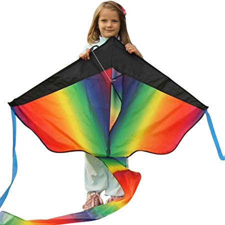 1. Huge rainbow kite for kids
