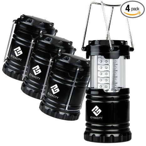 1. Etekcity 4 Pack Portable Outdoor LED Camping Lantern