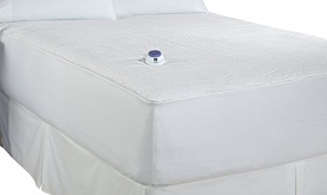 8. Soft Heat Micro-Plush Heated Mattress Pad