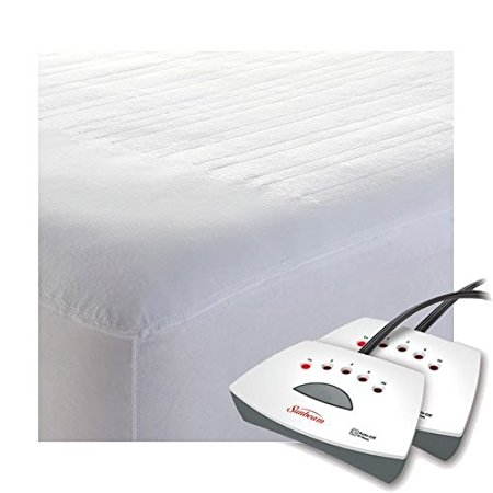 6. Sunbeam Non-Woven Heated Electric Mattress Pad