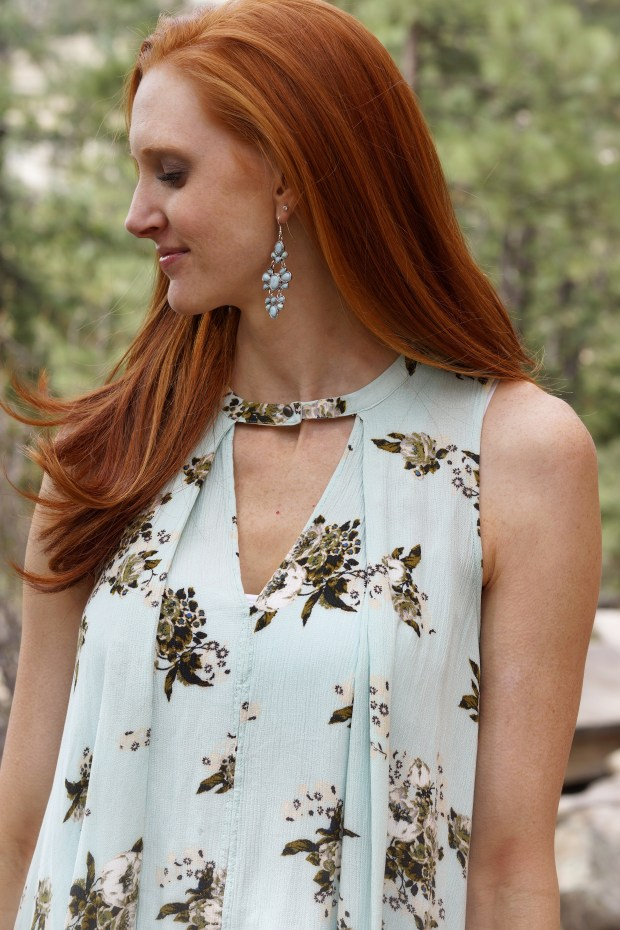 Mint Tunic + Mint Earrings