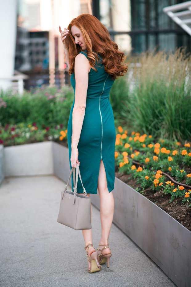 Back Zip Dress + Studded Heels