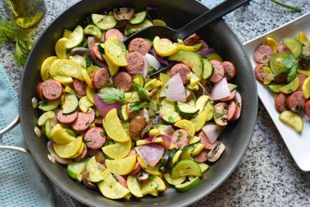 One Pan Sausage & Veggie Skillet